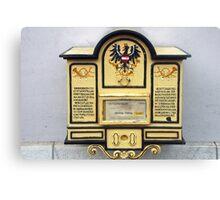 Old Austrian postbox Canvas Print