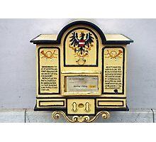 Old Austrian postbox Photographic Print
