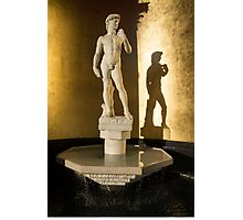 Michelangelo's David and his Shadow Photographic Print