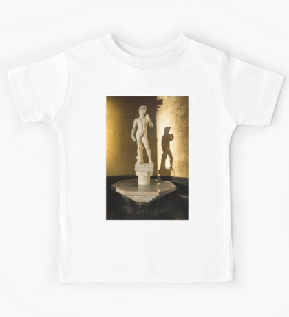 Michelangelo's David and his Shadow Kids Tee