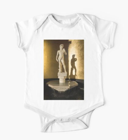Michelangelo's David and his Shadow One Piece - Short Sleeve