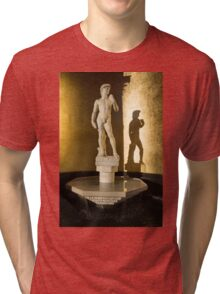 Michelangelo's David and his Shadow Tri-blend T-Shirt