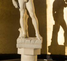 Michelangelo's David and his Shadow Sticker