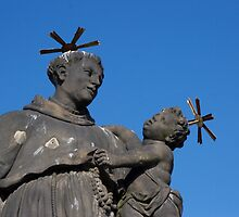 Statue of St. Anthony of Padua on Charles Bridge by DikHendriks