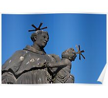 Statue of St. Anthony of Padua on Charles Bridge Poster