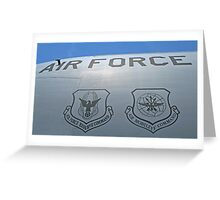 USAF Insignias Greeting Card