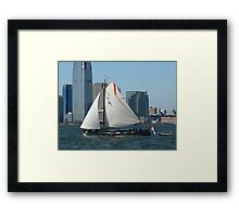 Dutch Leeboard Sailboats Framed Print