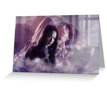 Iris West- Purple Design Greeting Card