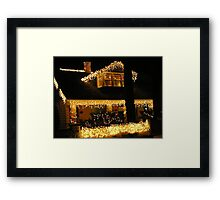 Decorated for the Holiday- The Historical town of Bisbee Az Framed Print