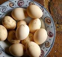 eggs by pea soup by Mary Canning