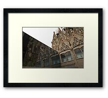 Reflecting on Sagrada Familia, Antoni Gaudi's Masterpiece Framed Print