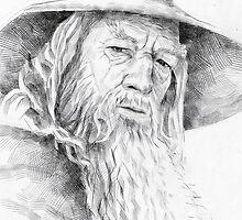 Gandalf the Grey Drawing by yuriiRomanovich