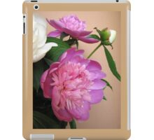 Pink and white bouquet of peonies  iPad Case/Skin