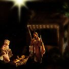 Wrapped in cloths and lying in a manger. by Heather Haderly