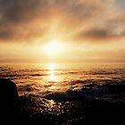 Sunrise Over Sea by PeterBatten