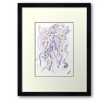 0113 - Soft Lines with tough Patterns Framed Print