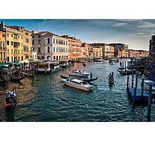 Grand canal Venice Italy Photographic Print