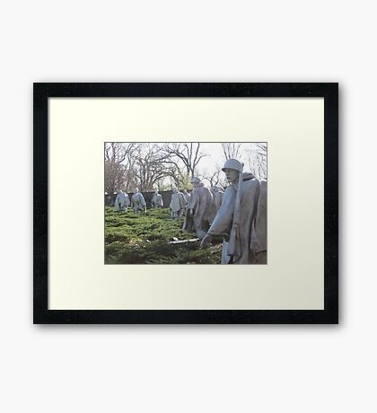 The Nineteenth Parallel- Statues at the Korean War Memorial Framed Print