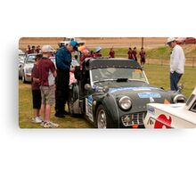 Morning Tea, Yankalilla Oval, Classic Adelaide Car Rally Canvas Print