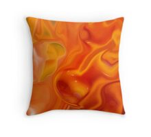 Marigold Abstract Throw Pillow