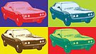 Toyota Celica TA22 Warhol pop art style by Neroli Henderson