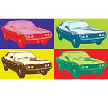Toyota Celica TA22 Warhol pop art style Photographic Print