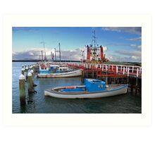 Port Welshpool Wharf Art Print