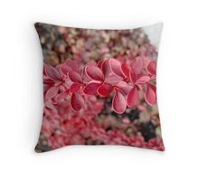 Paprika Leaves Throw Pillow