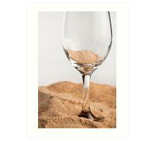 Sand : Glass Art Print