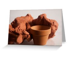 Clay : Pottery Greeting Card