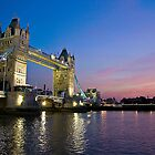 Tower Bridge at sunset by mncphotography