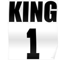 KING (Black) The His of The His and Hers couple shirts Poster
