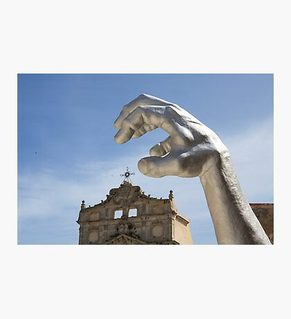 Statue Series - Arggghhhhh it's the hand! Photographic Print