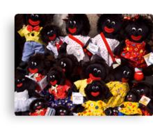 Smiling dolls - Salamanca Markets Canvas Print
