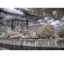 Norte Dame Cathedral Infrared Photographic Print