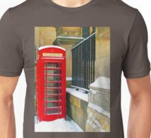 Vintage telephone box Unisex T-Shirt