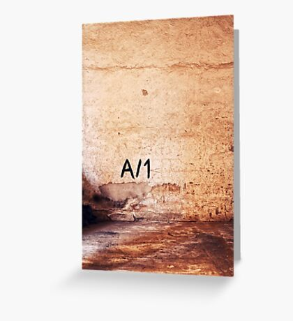 A/1 Greeting Card