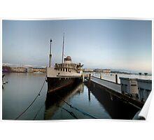 HDR Geneva 8th Nov 2009 - 8 Paddle Steamer Geneva Poster