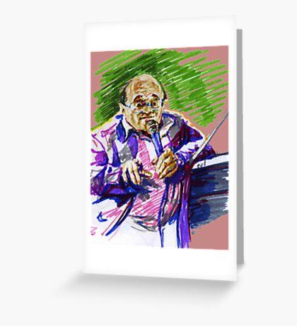 Jazz Portraits-  Petrucciani Greeting Card