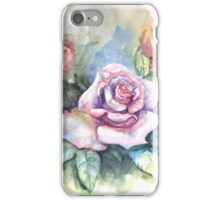 Pink Rose watercolor painting  iPhone Case/Skin
