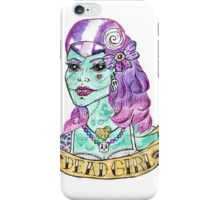 Psychobilly Dead Girl iPhone Case/Skin