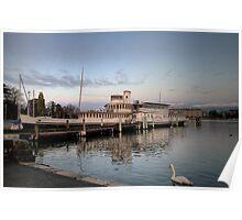 HDR Geneva 8th Nov 2009- 12 Paddle Steamer Geneva Poster