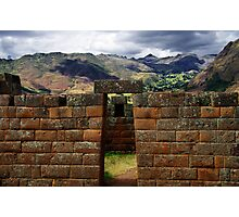 Inca Architecture Of The Sacred Valley - Peru Photographic Print