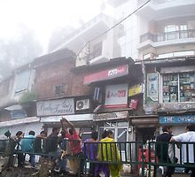 Waiting for the Bus in McLeod Ganj by Angie Spicer