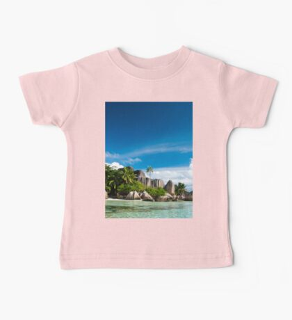 a colourful Seychelles landscape Baby Tee