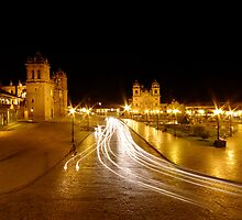Night Lights - Cusco - Peru by Matt  Streatfeild