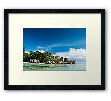 a colourful Seychelles landscape Framed Print