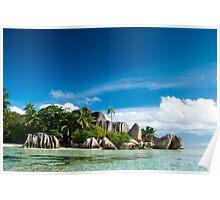 a colourful Seychelles landscape Poster