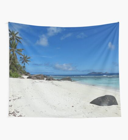 an incredible Seychelles landscape Wall Tapestry