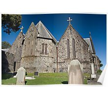 Old Stone Church - New Plymouth - New Zealand Poster